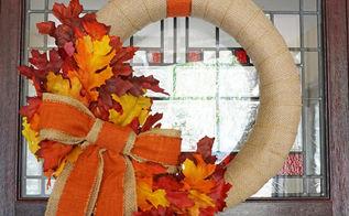 unbelievably easy fall burlap wreath