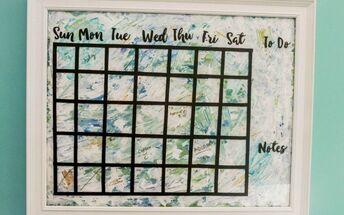 diy calendar from thrift store art