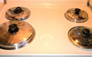 cover your burners safely with pot lids