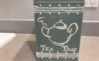painted tea box