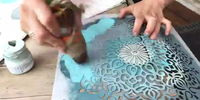 how to stencil furniture