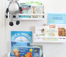 diy nursery book shelves for 4 each