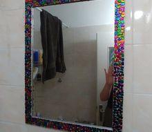 bejewled bathroom mirror