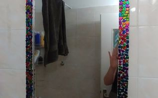 bejewled bathroom mirror