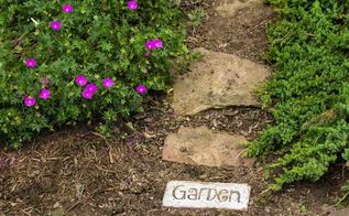 brick word art for your garden path