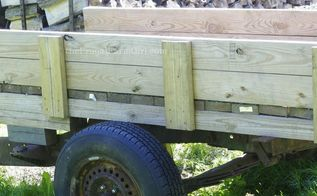 how to turn an old truck into a functioning trailer