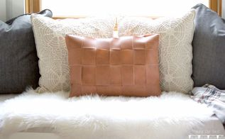 diy faux leather pillow