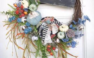 fabric pumpkin hello fall wreath