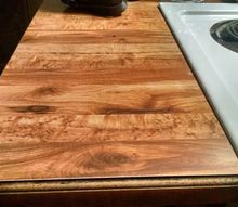q how can i cover ugly butcher block laminate countertops