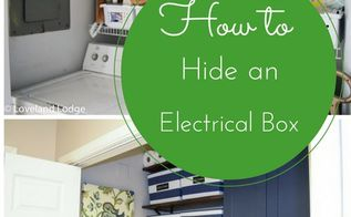 how to hide an electrical box