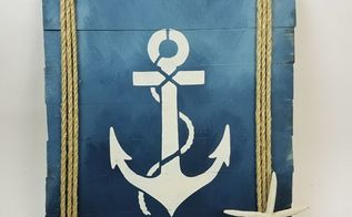 craft nautical wood art using stencils