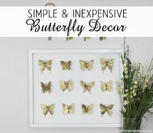 inexpensive golden butterfly decor