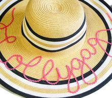 make your own script sun hat