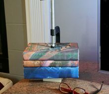 modern clamp and concrete book holder