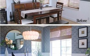 an affordable dining room makeover