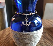 nautical glass vase