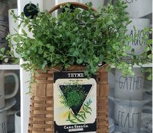 farmhouse style seed packet basket makeover