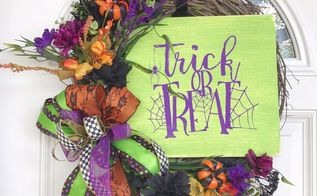 trick or treat halloween floral wreath