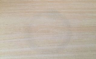 q how can i remove a wax ring stain from an light oak veneer