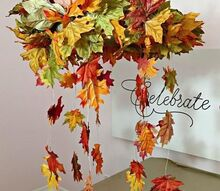 falling leaves light up wreath