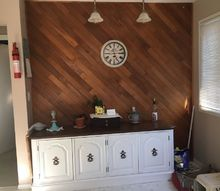 q what should i do with this ugly wooden paneled feature wall