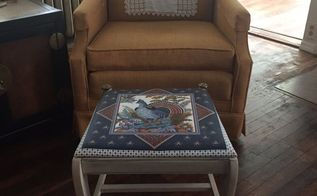 from dining chair to foot stool