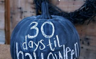 halloween countdown chalkboard pumpkin craft