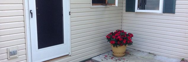 q help with some steps in front of our back door or a porch there