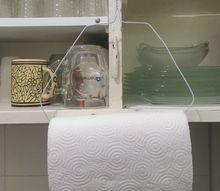 simple zero cost paper towel rack