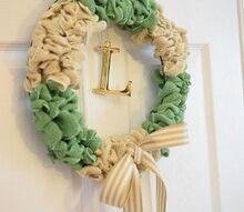 easy burlap bubble wreath