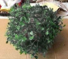 how you can make 1 topiary balls in about 5 minutes, My 1 version of a topiary ball