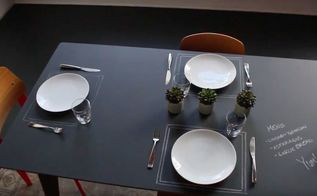 watch designer kyle schuneman make a chalkboard dining table