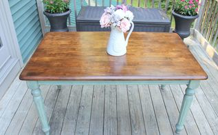 thrift store table makeover washed paint technique