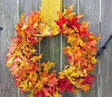 the easiest 15 minute fall leaf wreath