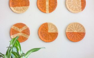 paper plate holders turned chic wall decor