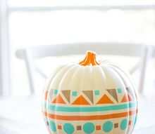 modern vinyl decorated pumpkin