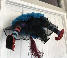 create this crashing witch wreath from dollar store items