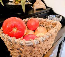 how to easily weave a beautiful jute metal basket