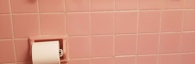 q help i have one of those pink tile bathrooms and need an update