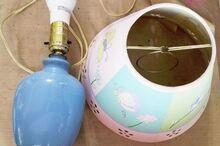 diy lamp makerover for little girl s room