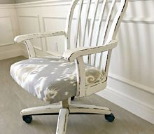 pretty office chair makeover and how to fix roller wheels