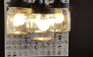 chandelier diy with consol mason glass jars