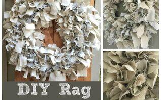 diy rag wreath tutorial under 10