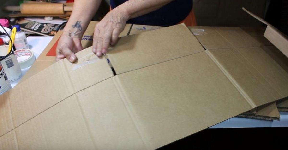 Diy Cardboard Stool Looks Like Wood Hometalk