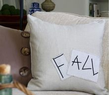 diy fall pillow from painter s drop cloth