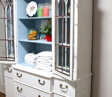 china cabinet to linen cabinet paint upgrade