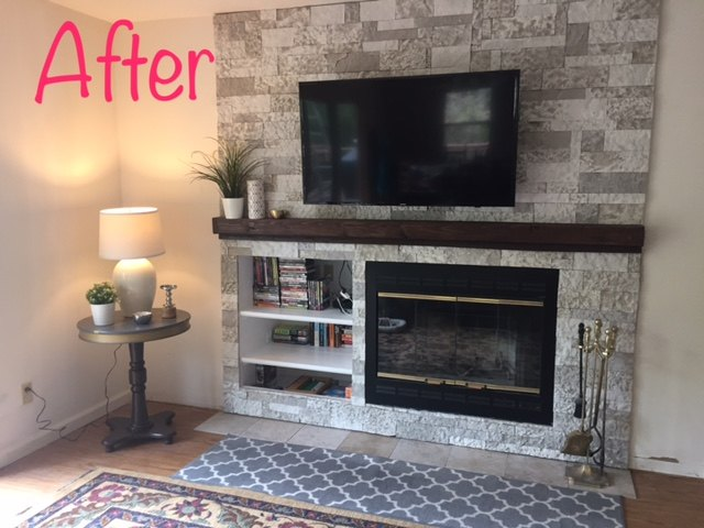 Fixed An Off Center Fireplace Hometalk