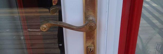 q brass door handle