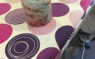 how to decorate a candle with decorative paper napkin