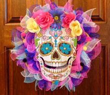 day of the dead wreath diy from dollar tree finds